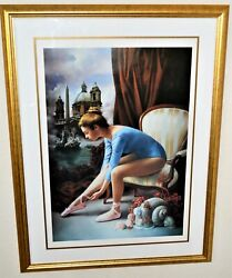 Bruno Di Maio 1944 Large Lithograph Signed Artist Proof Titled Cloudy May Framed