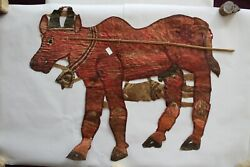 Antique Shadow Puppet Of Animal Cow Folk Art Collectible Piece Of Art