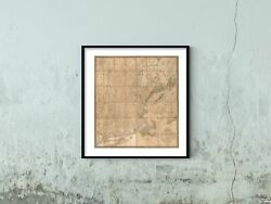 1826 Map Of New England States | Vintage New England States Map| New England Sta