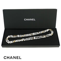 Marble Long Necklace Coco Mark 16a A96146 Y50530 F/s