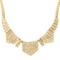 Necklace Gold 18k K18 Gold Diamond Gorgeous From Japan