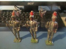 Britains - 3 X Antique Armored Knights