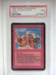 Andalpha Two-headed Giant Of Foriys English Psa9 Magic The Gathering Trading Card
