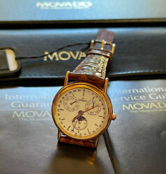 Movado Calendar And Moonphases Goldplated - Ref. 8703822 - 3/410