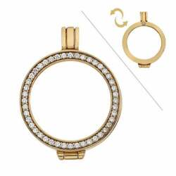Emozioni Yellow Gold Plated Reversible Coin Keeper Ek009