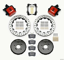 Wilwood 140-10310-dr Combination Parking Brake Rear Kit 12.88in Drilled Red Hond