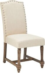Dining Room Furniture Transitional Design Tan Or Otter Color Fabric Side Chair