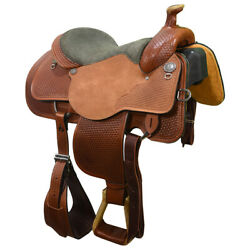 New 15.5 Stephenville Roping Saddle By Circle Y Saddlery Code 2740-g554-04