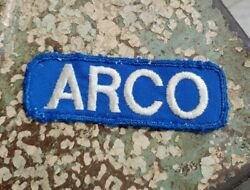 Vtg Embroidered Arco Gas Station Uniform Patch Workwear Sinclair Oil Service