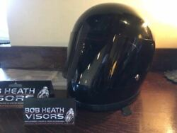 Bell Helmet 70and039vintage Star 2m Shell Original Black Repaired Shield And Pivot New