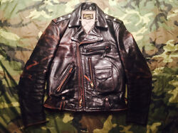 The Real Mccoyand039s Buco Vintage J-24 D Pocket Riders Size 34 Finest Horse Leather