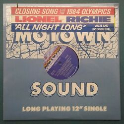 12 Lionel Richie All Night Long Commodores 1983 Us 1st Press Soul/funk Sealed