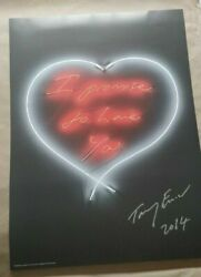 Tracey Emin - I Promise To Love You 2014 - Signed Limited Edition And039neonand039 Print