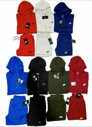 Nike Sweatsuit Set Zip Up Hoodie And Joggers Fast Free Shipping Track Suit