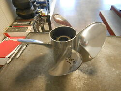 Omc Renegade Stainless Steel Used 25 Pitch 4 Blade Propeller