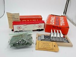 1962 Lioneland039s Missile Firing Range W/ Exploding Box Car-448. Read On-see Photos
