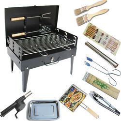 Barbecue Grill Steel Smoker Stainless Outdoor Bbq Tool Thermometer Cooking Wood