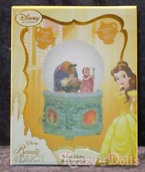 Disney Belle Beauty And The Beast Doll Musical Snowglobe New