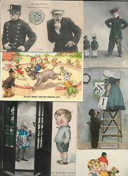 Mixed Lot Vintage Funny Kids Playing Animals Toys Postcard Lot Of 20 01.17