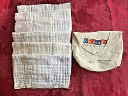 Bummis Cloth Diapers 6 In Pouch Organic Cotton Infant 7-20 Lbs