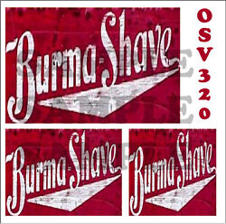 Weathered Peel And Stick Building Sign Decals Burma Shave O Scale Osv320
