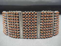 One Of The Best Ever Coral Snake Eyes Sterling Silver Bracelet- 250 Corals
