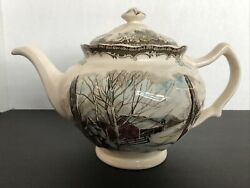 Vintage Johnson Brothers China The Friendly Village Teapot Made In England