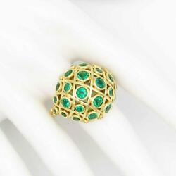 Statement Temple St Clair 18k Gold Emerald And Diamond Bubble Ring Retail8500