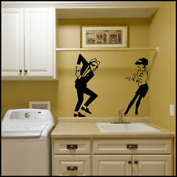 From A4 - Up To Life Size - 6ft 2 Tone Walt Dancing Beat Rude Girl Wall Sticker