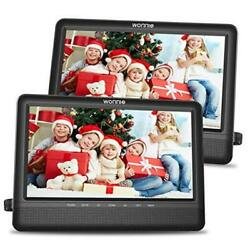 10.5and039and039 Dual Screen Dvd Player Portable Headrest Cd Players For Kids With 2