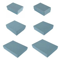 Premium Blue Cotton Filled Gift Boxes Jewelry Cardboard Box Lots Of 100200500