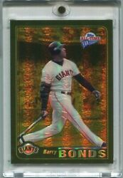 Barry Bonds 2005 Topps All-time Fan Favorites Gold Refractor 25/25 1/1 Jersey