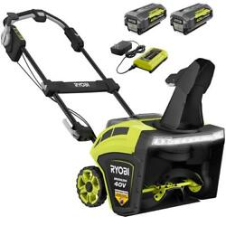 Ryobi 21and039and03940-volt Brushless Cordlss Electric Snow Blower W/batteriesandcharger Inc