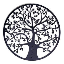 Round Wall Hanging Decorations Diameter 60cm Tree of Life Iron Art Home Hanging
