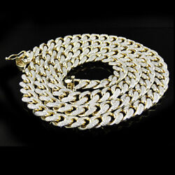 Menand039s 14k Gold Over 925 Sterling Silver Miami Cuban Curb Link 12mm And 18 Chain