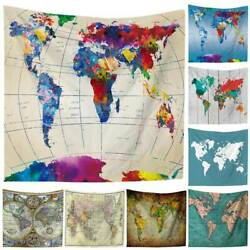 World Map Indian Tapestry Hippie Wall Hanging Tapestries Boho Bedspread Yoga Mat