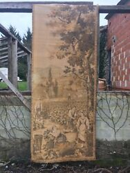 HUGE ANTIQUE French AUBUSSON Ch teau Tapestry Grape Harvest 4#x27; X 9ft 8quot; Wine