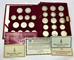 1980 Russia Silver Olympic Proof Coin Collection