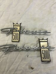 1963-1964 Ford Galaxie 500 Fender Emblems For Left And Right Sides