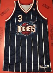 Authentic Houston Rockets Steve Francis Game Used Worn Jersey Sewn Procut 50 Vtg