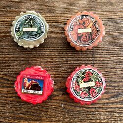 Yankee Candle Lot of 4 Yankee Tarts Wax Potpourri Holiday Christmas Scents