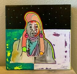 Chief Joseph Native American Chief Indian Hand Painted Painting 10x10 Series