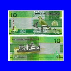 🍀p New Gambia 10 Dalasis 2019 Unc.au 955 Low Shipping Combine Free