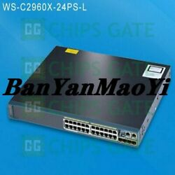 Fedex Dhl Used Cisco Ws-c2960x-24ps-l Tested In Good Conditon Fast Ship