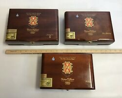Lot Of 3 Fuente Empty Wood Cigar Boxes