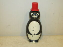 Penquin 8 Oz Bottle Container Made By Andrew Jergens Co. N. J. Very Good