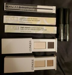 Clinique Full Size Eye Set 7 Items Mascara, Liner, Brow 120 Value