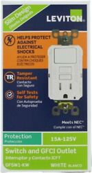 15 Amp 125-volt Combo Self-test Tamper-resistant Gfci Outlet And Switch, White