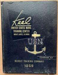 1959 U.s. Navy Basic Training School Yearbook, The Keel, 427, Great Lakes, Il