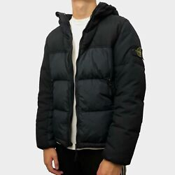 Stone Island Garment Dyed Crinkle Reps Ny Down Dark Blue Menand039s Large Jacket